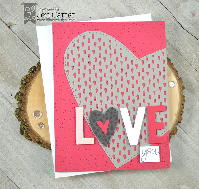 Jen Carter Forever Heart Die 1 2, Love is Love Dies, Farm Love Stamps, Quilted XOXO, Unstoppable wm