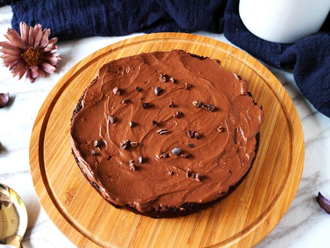 全素無粉藜麥巧克力蛋糕 Vegan Flourless Quinoa Chocolate Cake (1)