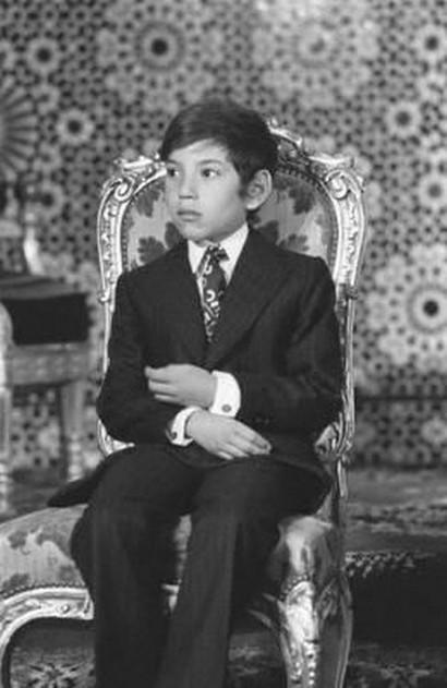 الملك محمد السادس لما كان طفلاً