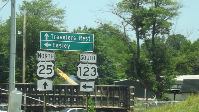 US 25 and US 123, Greenville SC.