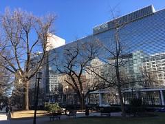 World Bank headquarters, winter afternoon reflections, Washington, D.C.
