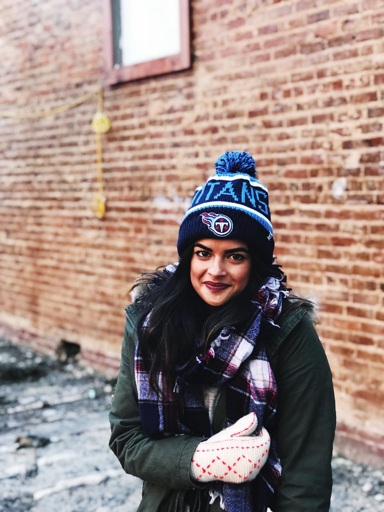 Priya the Blog, Nashville fashion blog, Nashville fashion blogger, Nashville style blog, Nashville style blogger, Winter outfit, Winter outfit with layering, Titans beanie, Winter accessories, Frye boots, Nashville Winter outfit, cute Winter outfit, strategy for dressing in cold weather