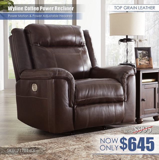 Wyline Coffee Recliner Cutout 71701-13