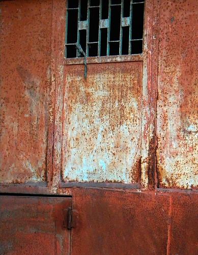 Rusty wall in Agra, India