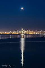 Super Blue Blood Moon over the City by the Bay