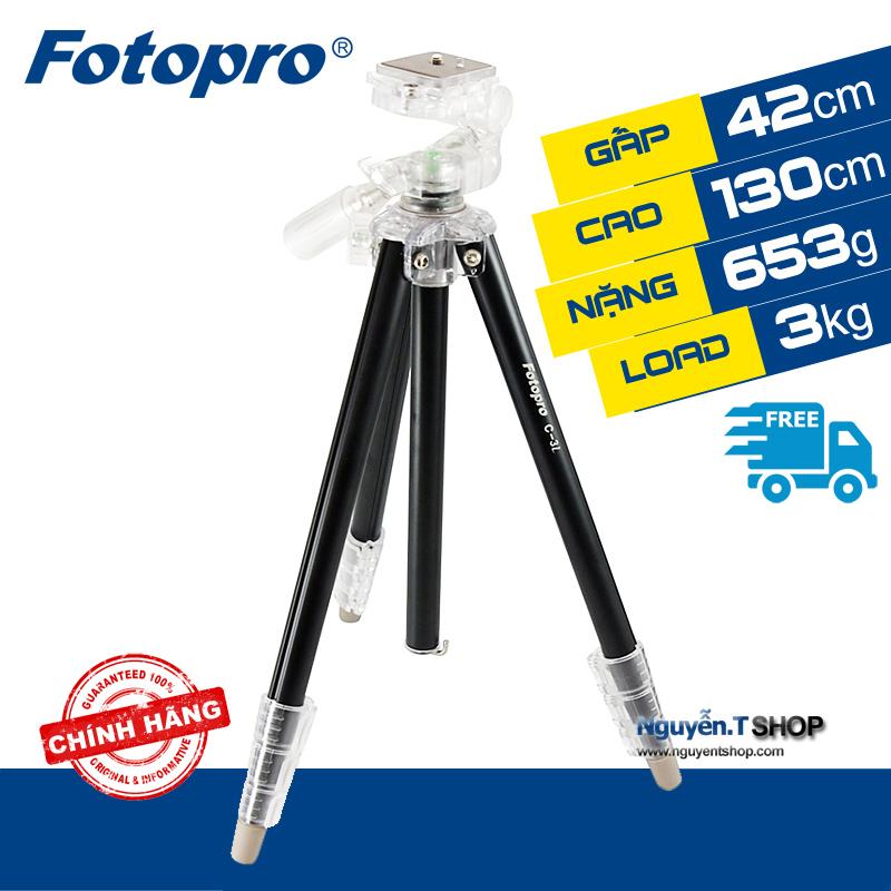 Fotopro C3i Black - Chân máy ảnh Tripod du lịch siêu gọn nhẹ
