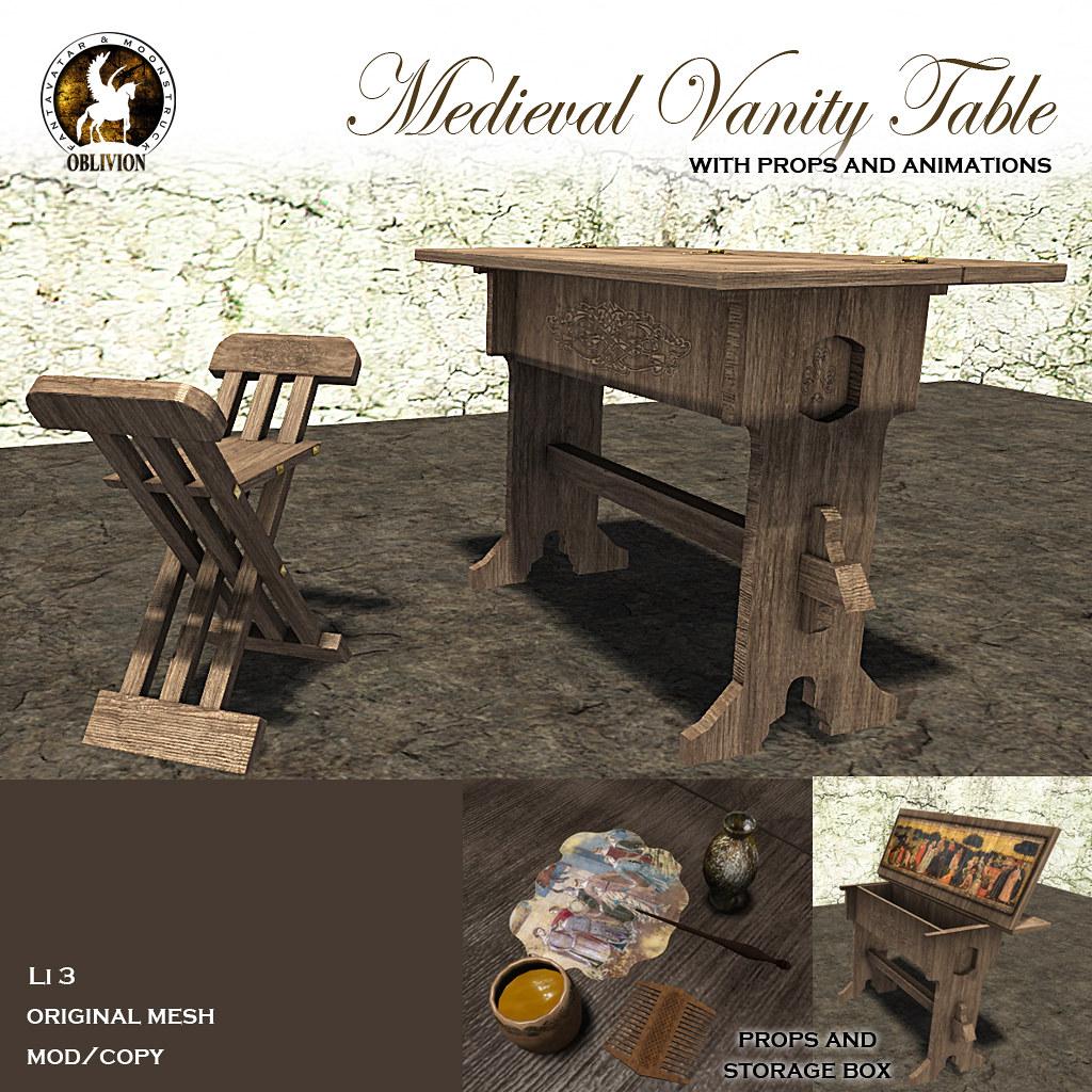 F&M * Medieval Vanity Table
