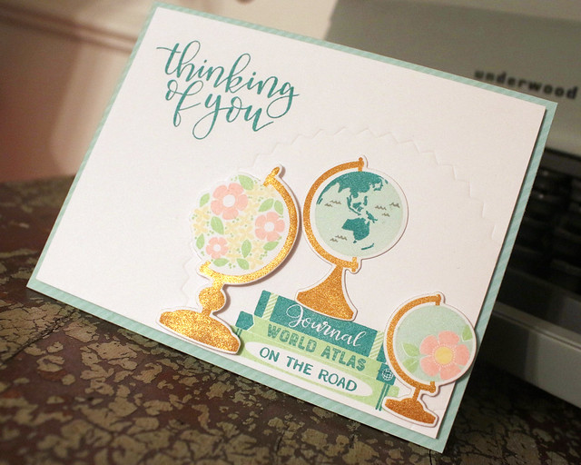 Thinking Of You Globes Card 2