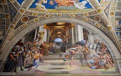 Ciudad del Vaticano. Estancia de Heliodoro. La Expulsión de Heliodoro del Templo. Rafael