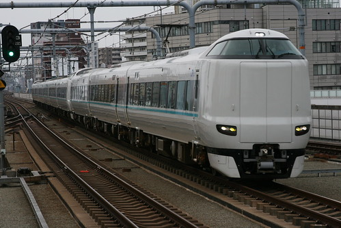 JR West 287 series(Kuroshio) in Tsurugaoka.Sta, Osaka, Osaka, Japan /Dec 31, 2017