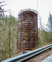 Water tower & wooden pipe