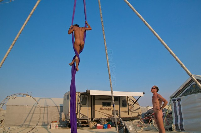 naturist aerial camp Gymnasium 0014 Burning Man, Black Rock City, NV, USA