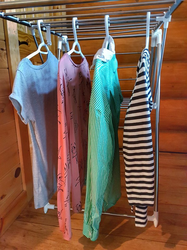 Hanging clothing to dry