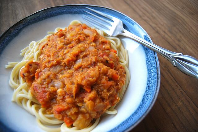 Freeze Ahead Red Lentil Ragu #vegetarian #freezeahead #lentil #ragu