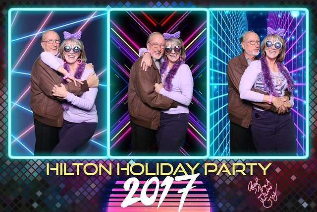 hilton holiday party event photobooth christmas photo booth mirror me ponte vedra jacksonville jax green screen