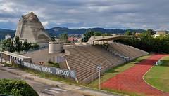 Firminy, le stade et l'eglise Saint Pierre, Le Corbusier