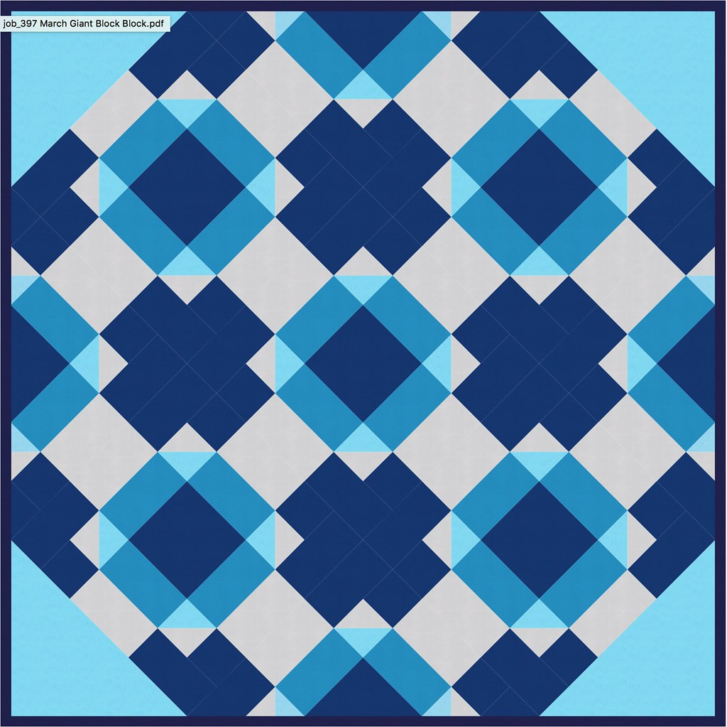 March Giant Block Quilt