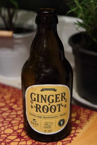 Ändes Ginger Root = alkoholfreies Erfrischungsgetränk aus natürlichen Ingwerextrakten mit Weizen- und Gerstenwürze
