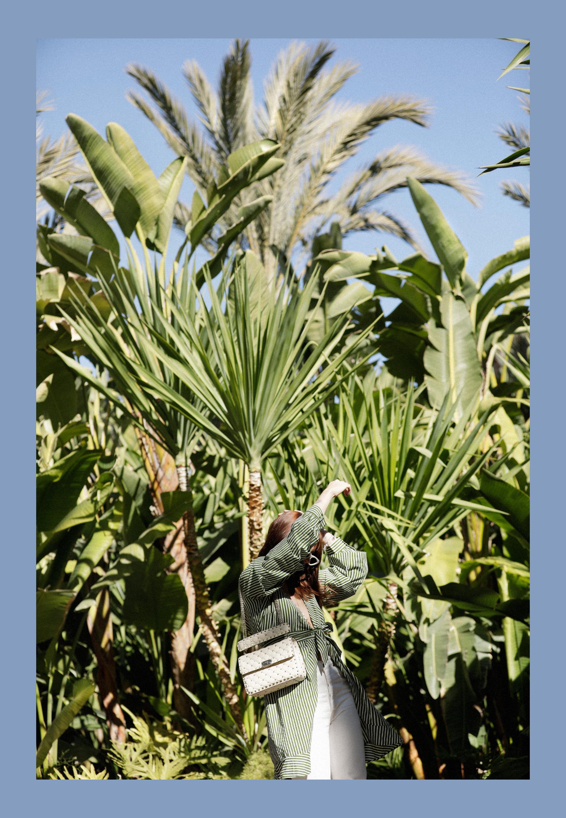 selman marrakech jungle palm tree banana leaves green dress vila breuninger maison valentino hermès oran adam selman x le specs sunglasses last lolita dress as top stripes green max bechmann fotografie film düsseldorf ricarda schernus catsanddogsblog 8