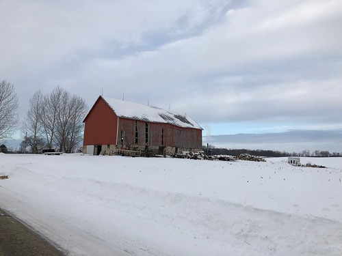 Wisconsin barn in the snow