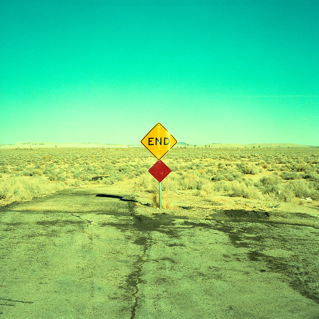 it all ends here. mojave desert, ca. 2011.