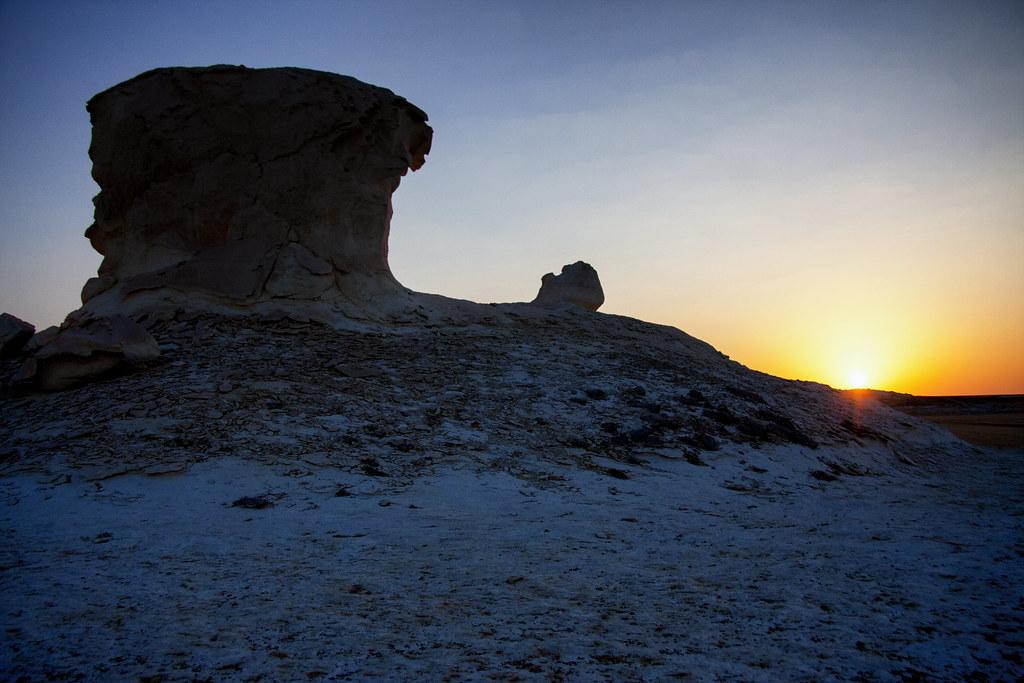 The Sun Sets In The White Desert
