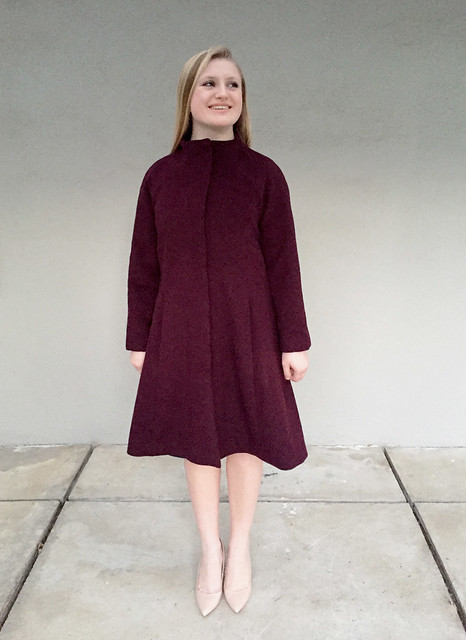 H coat buttoned up