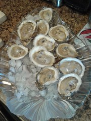 Shucks, oysters on the half shell again.