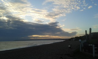 Sunset sky at Cooden Beach
