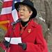 Tami Zawistowski speaking at Wreaths Across America in Windsor