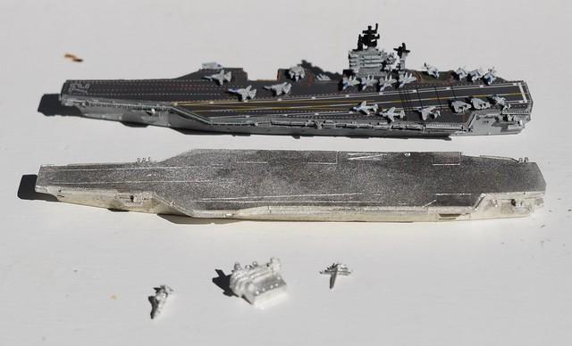 GHQ USS Roosevelt & Viking Forge Stennis (Nimitz) CVN aircraft carrier miniature