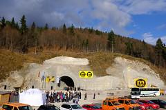 Durchschlagsfeier Tunnel Oberau