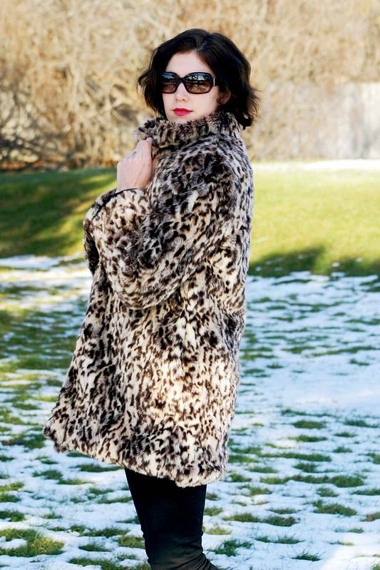 leopard fur coat