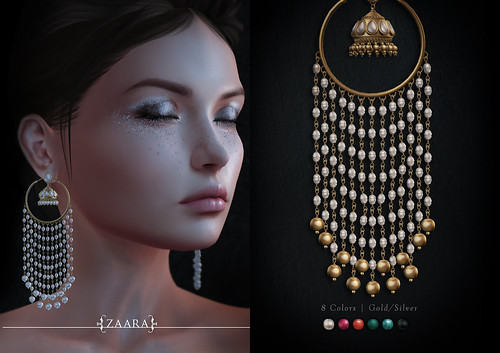 Zaara : Varsha chandelier jhumka earrings for C88