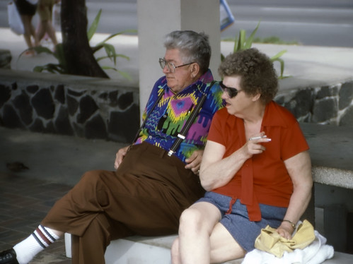 Tourists in Hawaii - Kodachrome - 1986