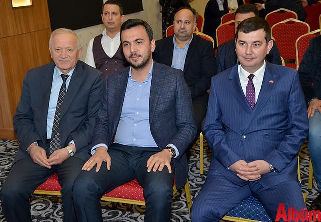 Esnaf ve Sanatkarlar Odası Başkanı Nuri Demir, Ak Parti Alanya İlçe Başkanı Mustafa Toklu, Alanya MHP İlçe Başkanı Mustafa Türkdoğan