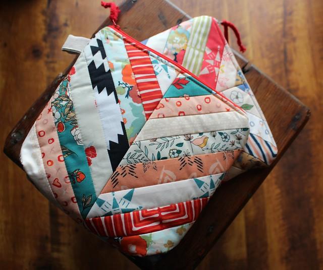 Love Story Herringbone Zipper Bags