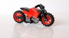 How to Build a Lego Motorbike (MOC - 4K)