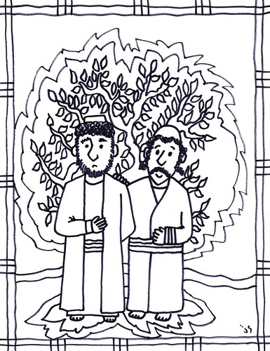 Philip and Nathanael coloring page