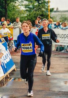 Gisela auf dem Rennsteig-Halbmarathon