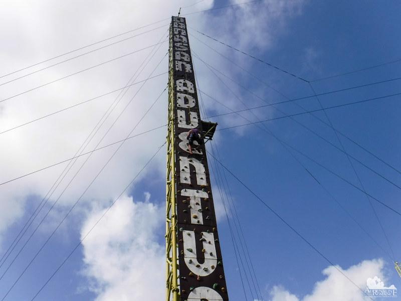 120-foot climbing wall