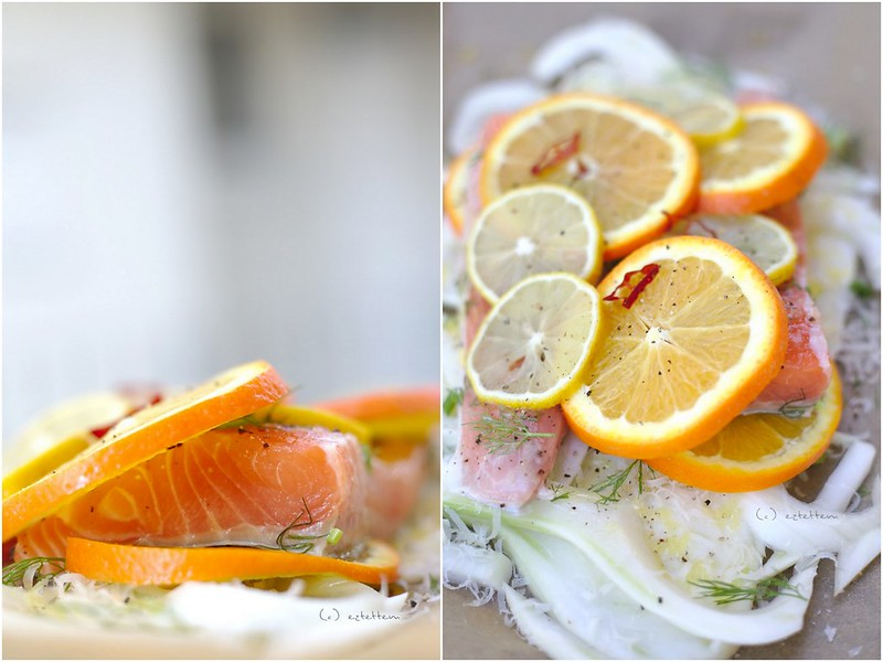 roasted salmon with fennel and citrus