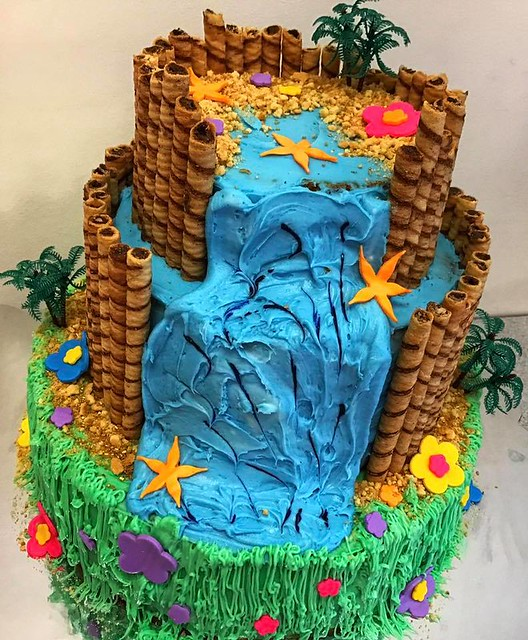 Tropical Beach Theme Cake by Christina Trikoris of Chef Funny Baker