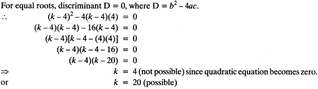 Quadratic Equations Chapter Wise Important Questions Class 10 Mathematics 90