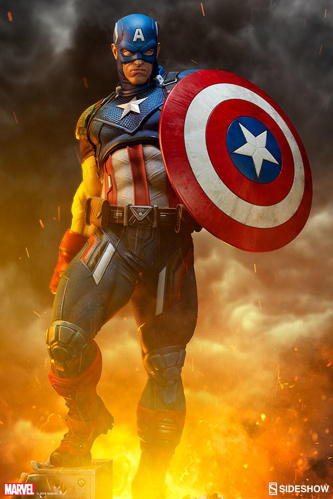 Sideshow Collectibles Premium Format Figure 系列 Marvel Comics 【美國隊長】Captain America 1/4 比例全身雕像作品