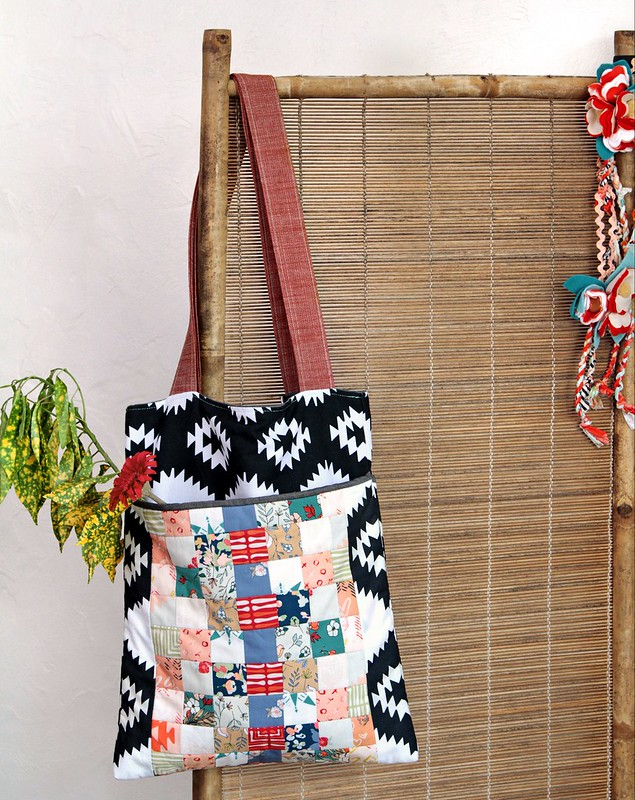 Love Story Canvas & Patchwork Tote