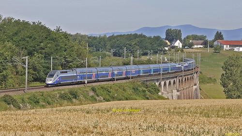 UM TGV Rames 268-604 Train 6701 Paris GdL-Mulhouse à Ballersdorf