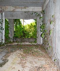 Abandoned resort over the Kata beach