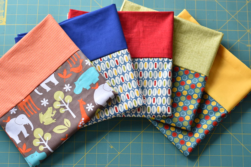 Pillowcases made by Amanda Castor of Material Girl Quilts for APQ's One Million Pillowcase Challenge #sewgoodness #onemillionpillowcasechallenge
