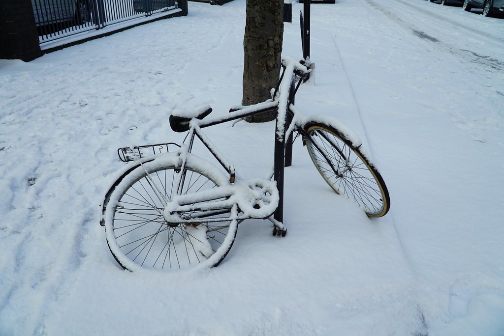 Tänään ei pyörällä.